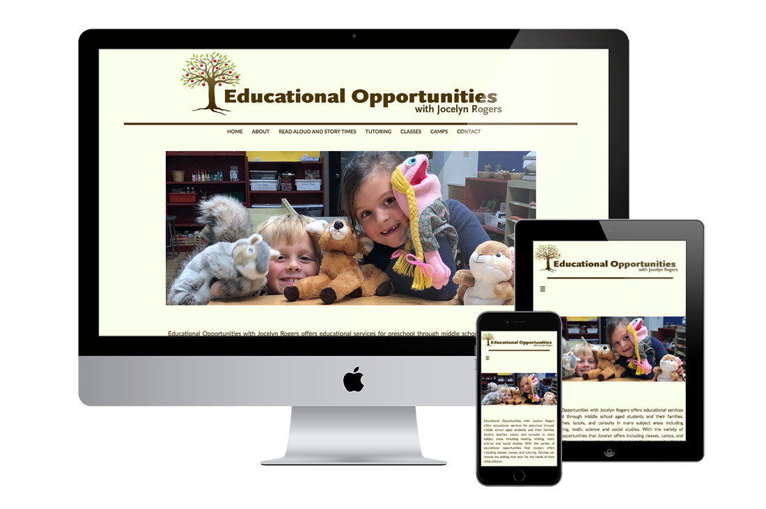 mockup educational opportunities